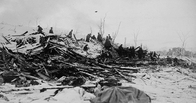 halifax explosion - wreckage
