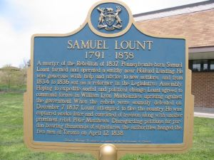 samuuel lount - historical plaque