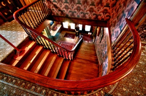 """Spadina House"" three-storey staircase."