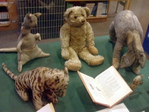 "The original stuffed ""Pooh Bear"" with ""Tigger,""  ""Eor,"" etc."