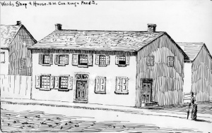 Alexander Wood's original house and shop located at King and Frederick Streets