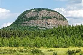 Mt. Cheminis, a volcanic plug near Larder Lake.