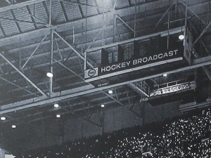 The famous gondola at Maple Leaf Gardens where Hewitt broadcast 'Saturday Night in Canada' for nearly 50 years