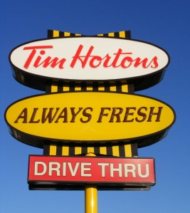tim horton - sign