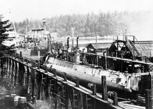 CC1 in her slip at Esquimalt, British Columbia
