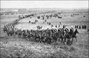 "The 778-mile ""Great March"" undertaken by the North West Mounted Police in 1874."