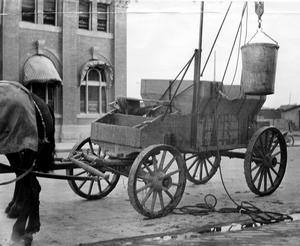 "A ""honey wagon"" - c. 19112, courtesu the Lethbridge Historical Society."
