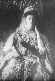 Grand Duchess Olga in imperial dress.