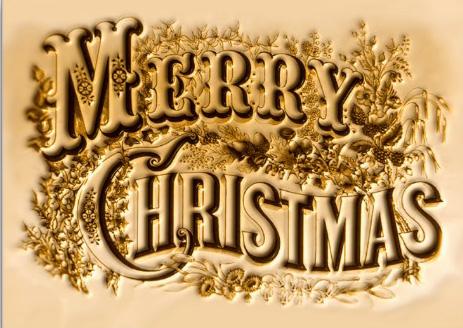 merry christmas emblem