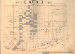 Oro Township showing lots located or occupied by black settlers.