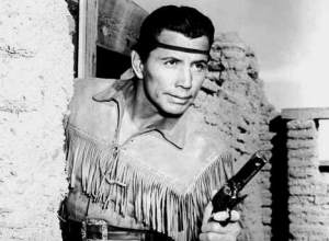 "Jay Silverheels (Harry J. Smith) as Tonto in the long playing series, the ""Lone Ranger."""