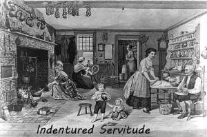 Indentured servitude was a form of slavery of the poor. Masters often refused to free the servant when the servitude had ended.